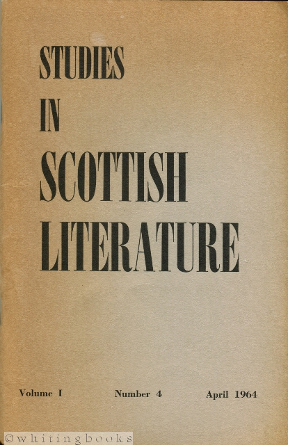 Image for Studies in Scottish Literature Volume I Number 4, April 1964
