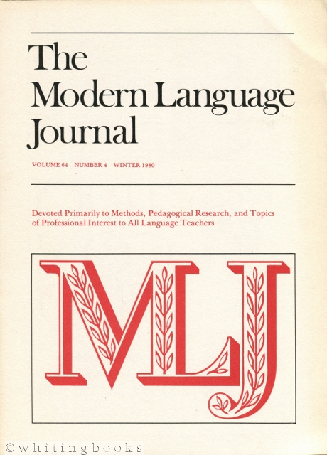 Image for The Modern Language Journal - Volume 64 Number 4, Winter 1980