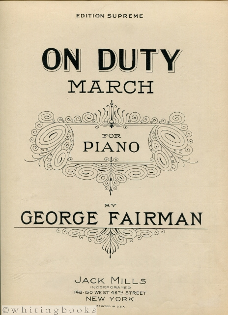 Image for On Duty: March for Piano