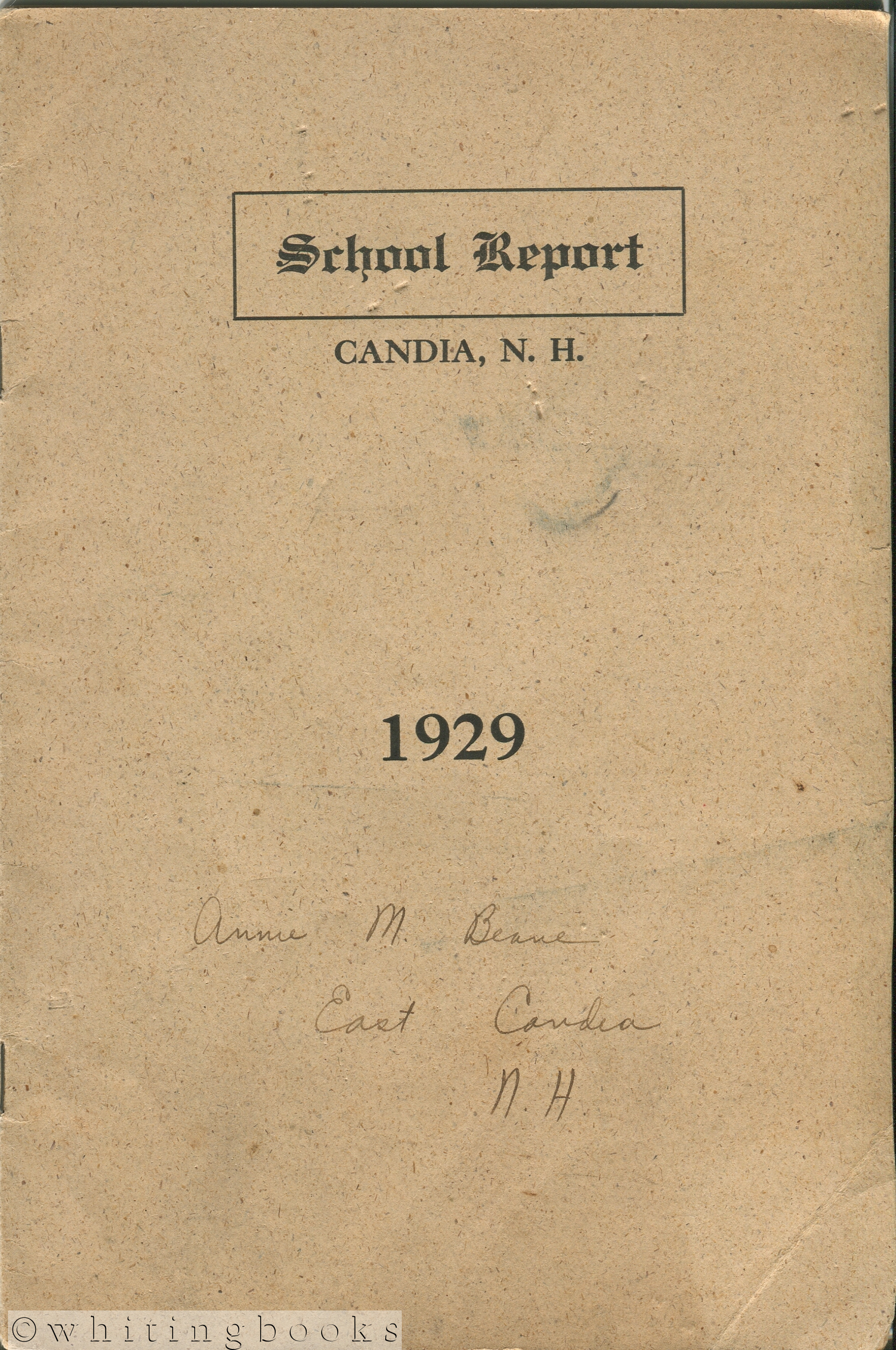 Image for Annual Reports of the School District of Candia, N.H. for the Year Ending June 30, 1929