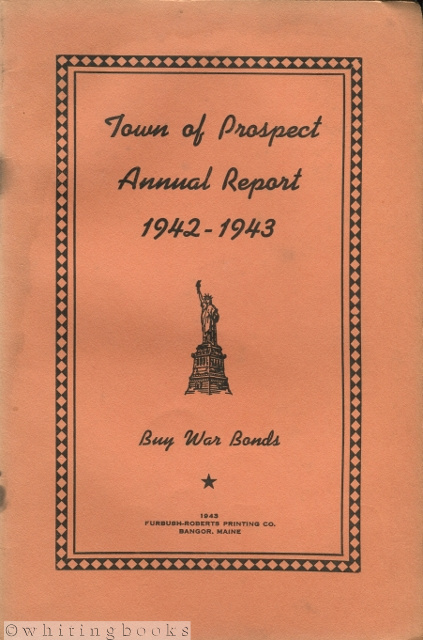 Image for Town of Prospect [Maine] Annual Rerport 1942-1943