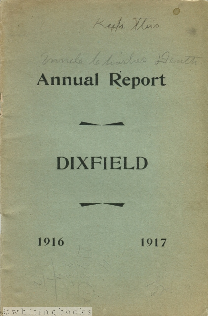 Image for Annual Report of the Municipal Officers of the Town of Dixfield [Maine] for the Year Ending February 12, 1917
