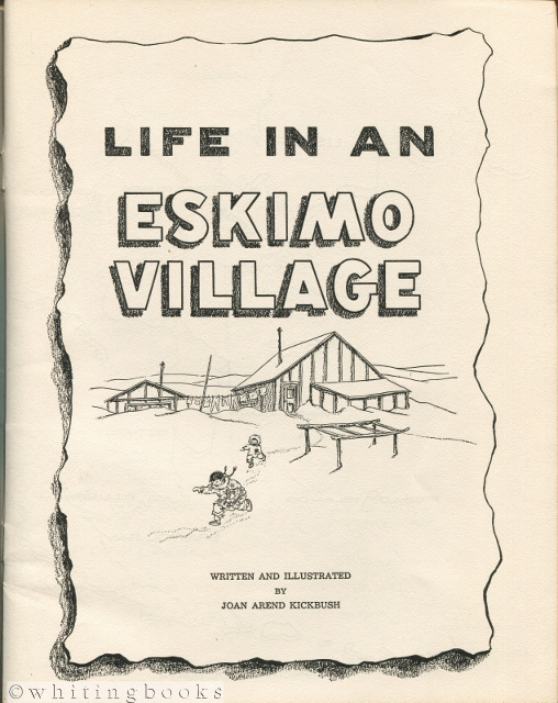 Image for Life in an Eskimo Village: A Cut-Out and Color Book