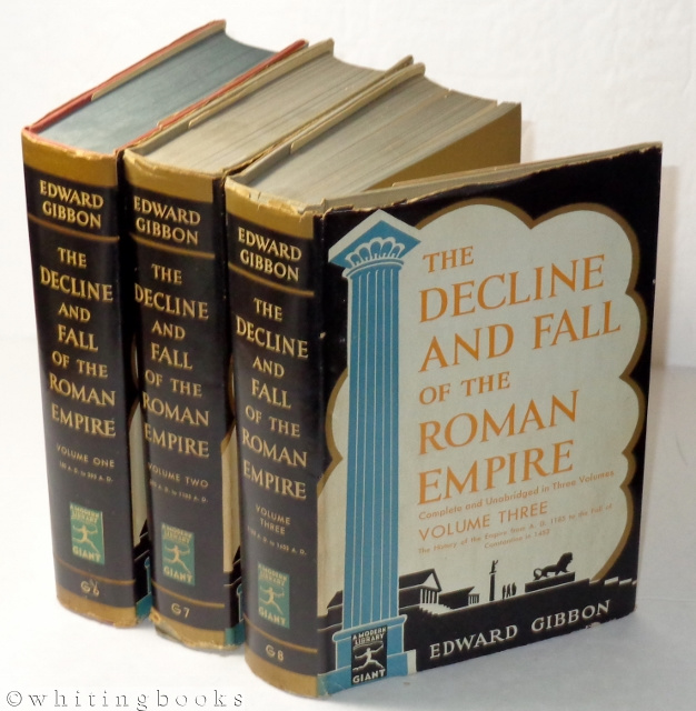 Image for The Decline and Fall of the Roman Empire, Complete and Unabridged in Three Volumes [Modern Library Giants]