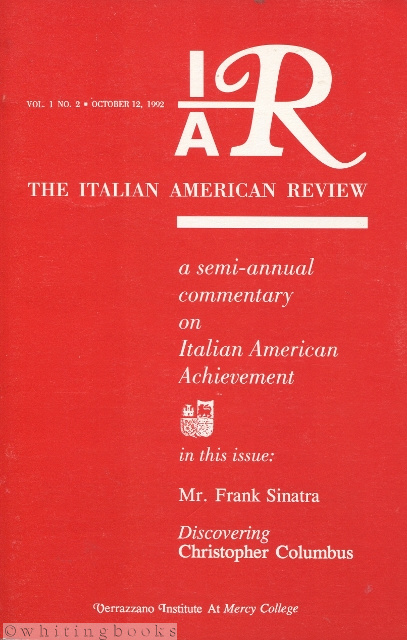 Image for The Italian American Review Vol. 1, No. 2 - October 12, 1992