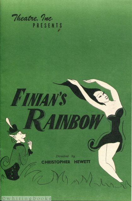 Image for Finian's Rainbow, Directed by Christopher Hewett, Choreography by Patsy Swayze - Theatre, Inc., Houston, 1962 Playbill/Program