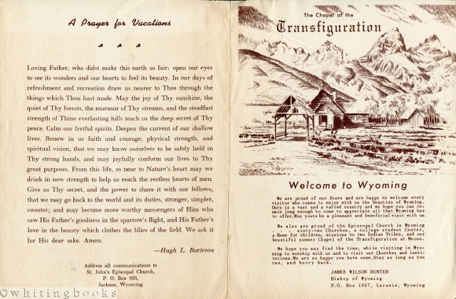 Image for Visitor Leaflet [1950s-60s] for the Chapel of Transfiguration, St. John's Episcopal Church in Jackson, Wyoming, with Grant Hagen Sketch