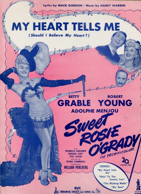 Image for My Heart Tells Me (Should I Believe My Heart?) from Sweet Rosie O'Grady, Starring Betty Grable, Robert Young, and Adolphe Menjou