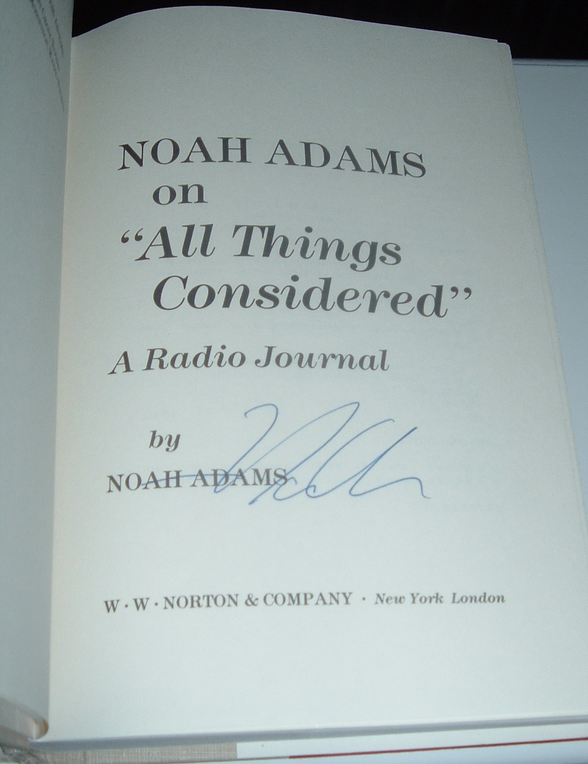 "Image for Noah Adams on ""All Things Considered"" : A Radio Journal"