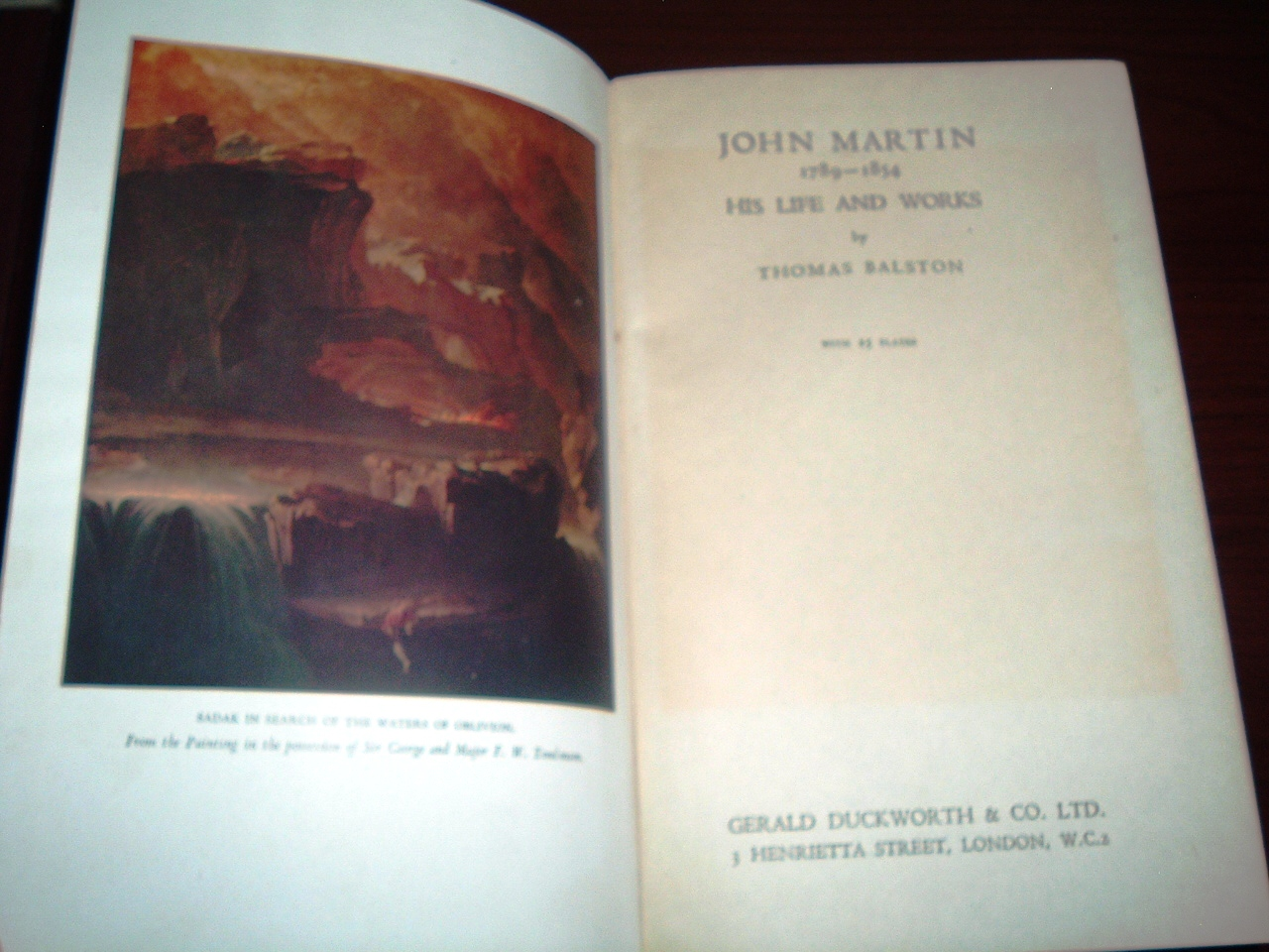 Image for John Martin 1789-1854: His Life and Works