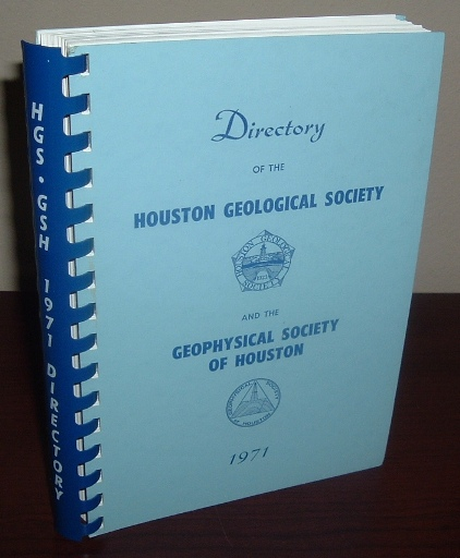 Image for Directory of the Houston Geological Society and the Geophysical Society of Houston - 1971