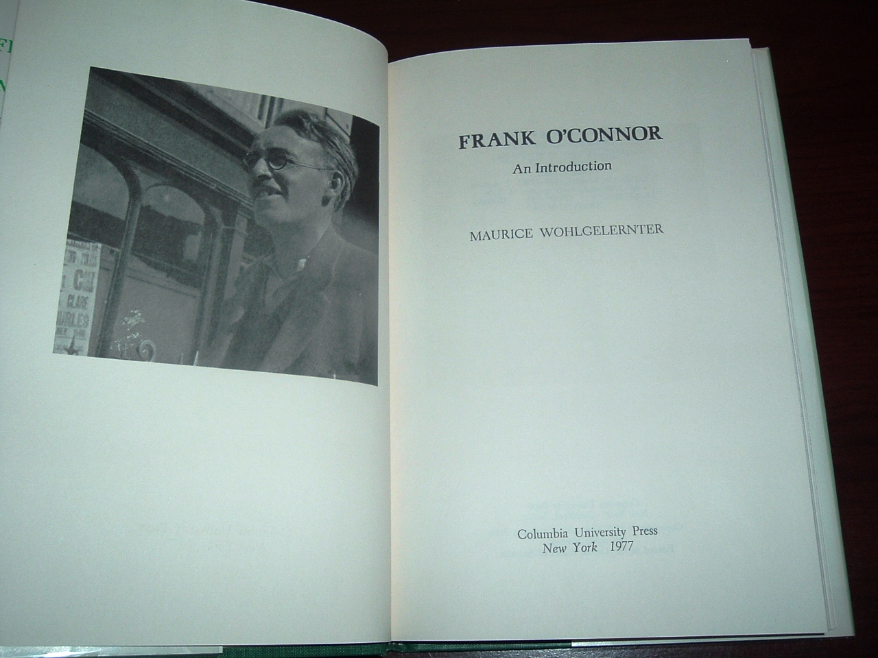 Image for Frank O'Connor : An Introductory Study